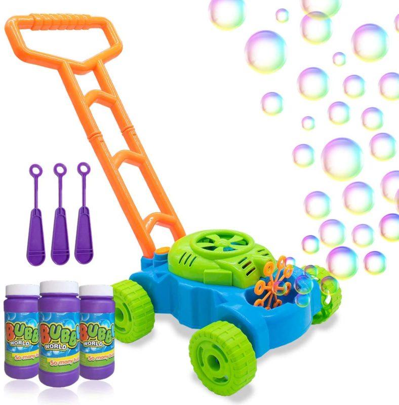 bubble lawnmower maker toddler gift idea