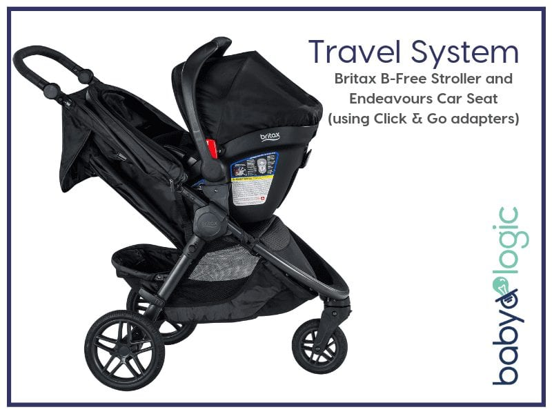 britax travel system with click & go adapters for car seat