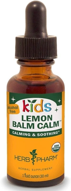 herb pharm lemon balm calm supplement for kids