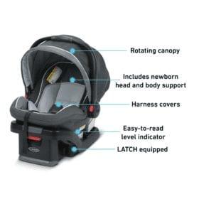 graco snugride snuglock features infant car seat