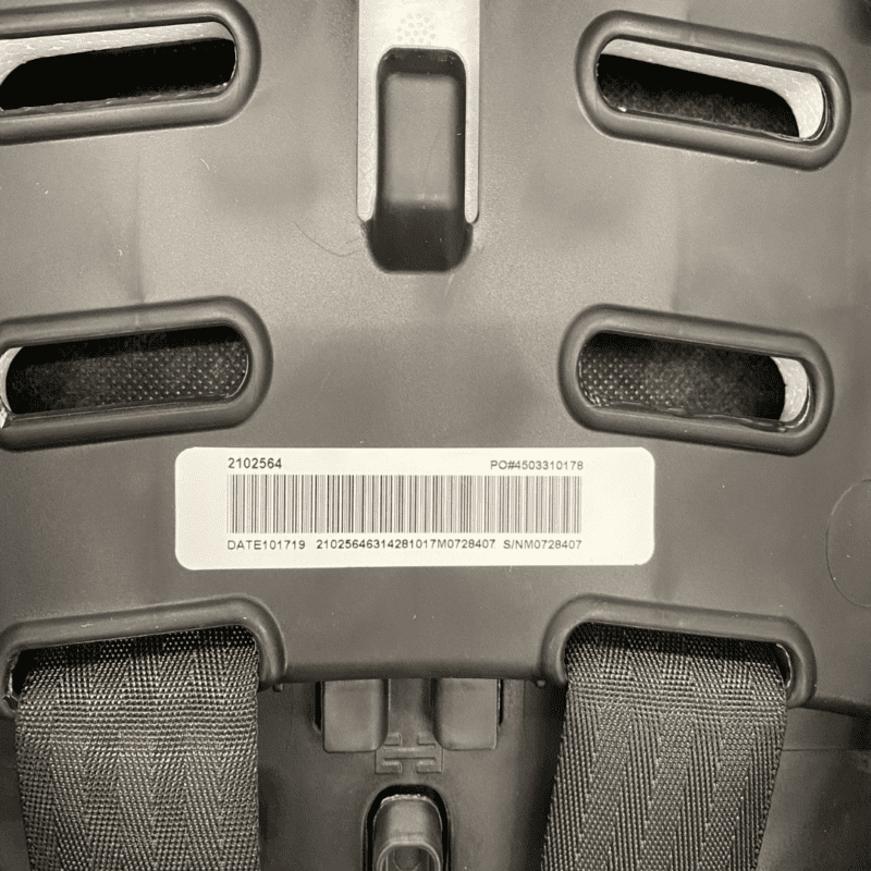 location of expiration date graco car seat