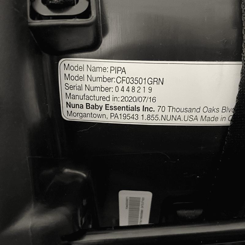 nuna car seat expiration date location