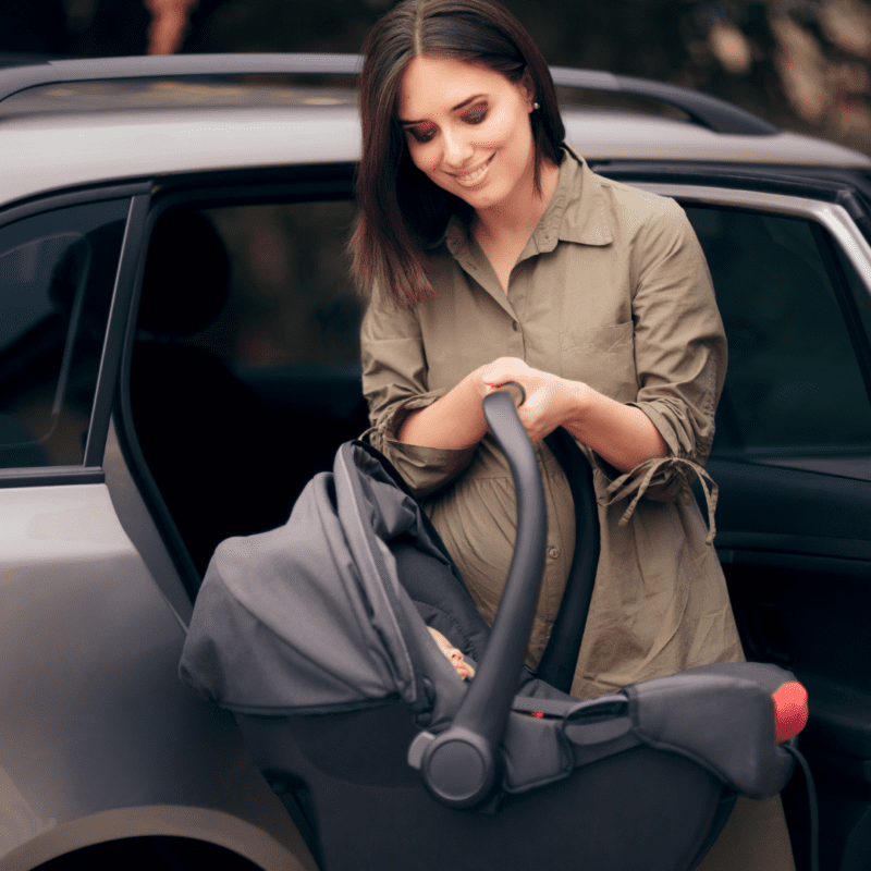 infant car seat while travelling