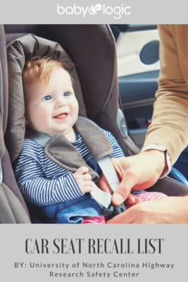 CAR SEAT RECALL LIST UPDATED